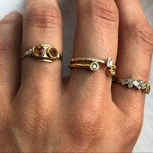 Vintage Art Deco 30's 10k Solid Gold Citrine Ring